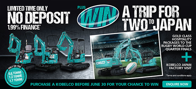 Kobelco competitive prices, high quality machines with great offers